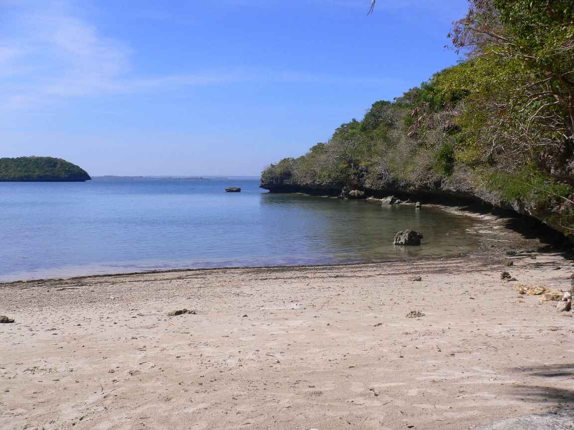 The beach at Monkey's Island