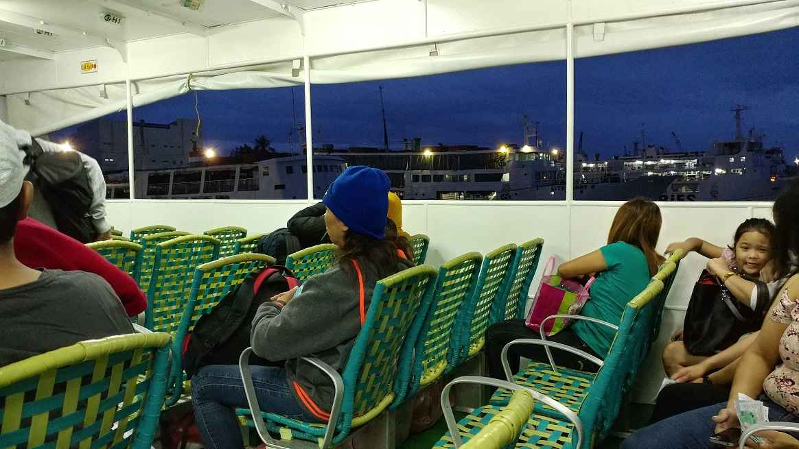 Early morning ferry from Cebu to Tagbilaran