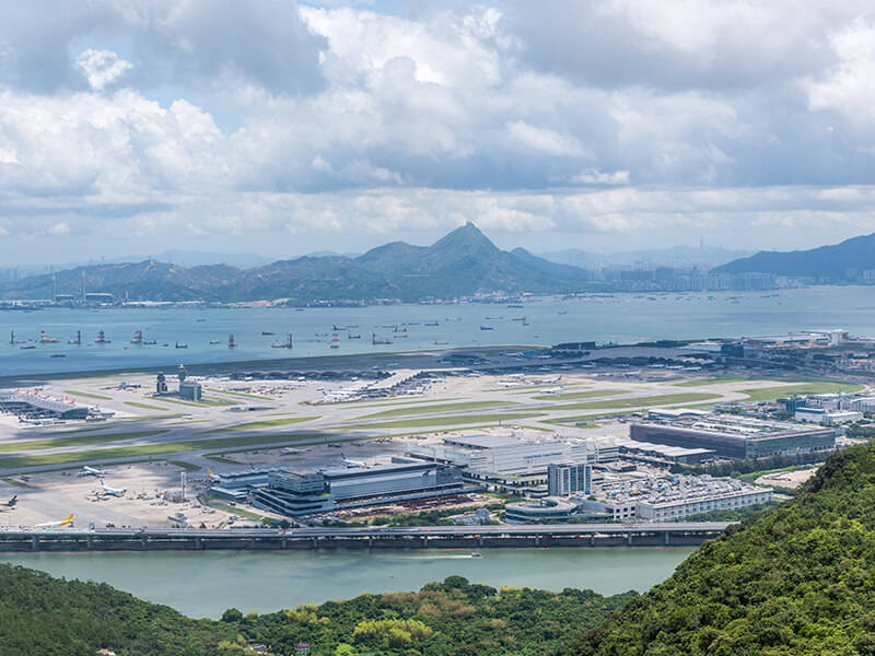 Hong Kong International Airport from the cable car
