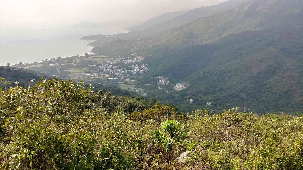 Looking down towards Pui O