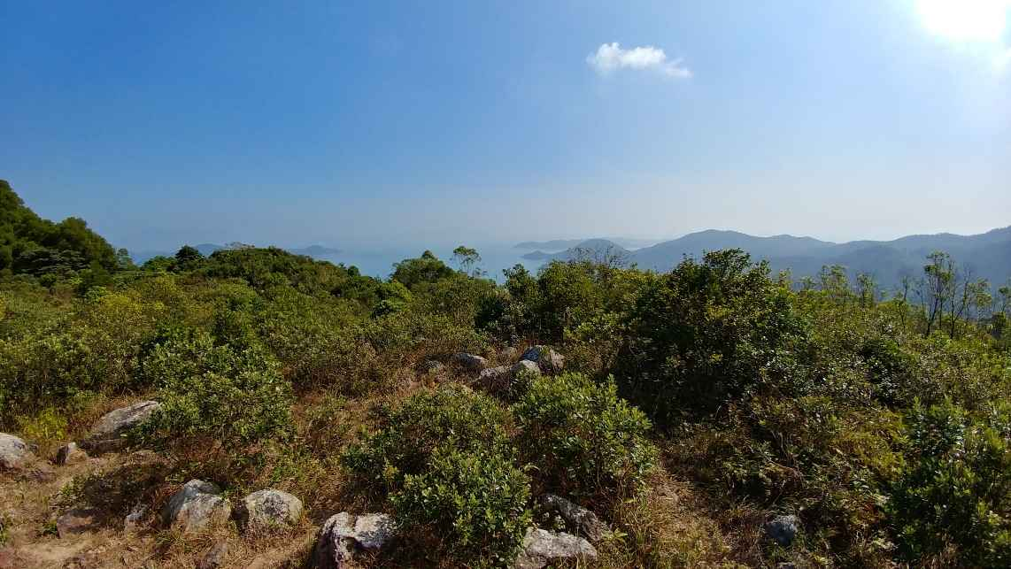 View of South China Sea on a hike to Pui O