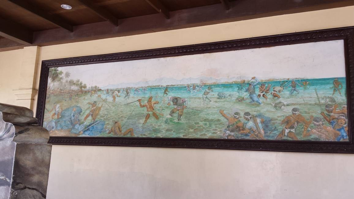 Painting of the Battle of Mactan