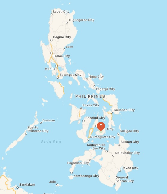 Bohol's location within the Philippines