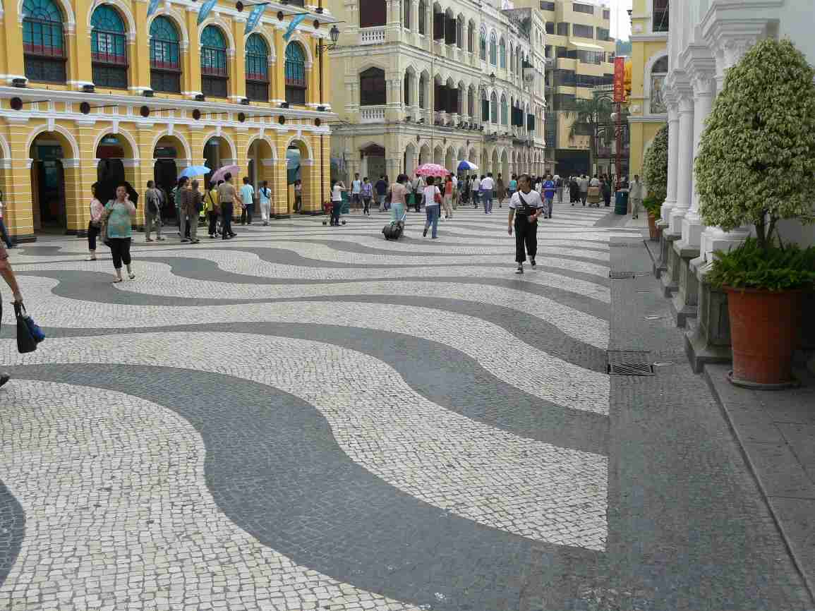Square in front of the Municipal building in Macau