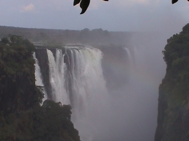 The main falls at Victoria Falls
