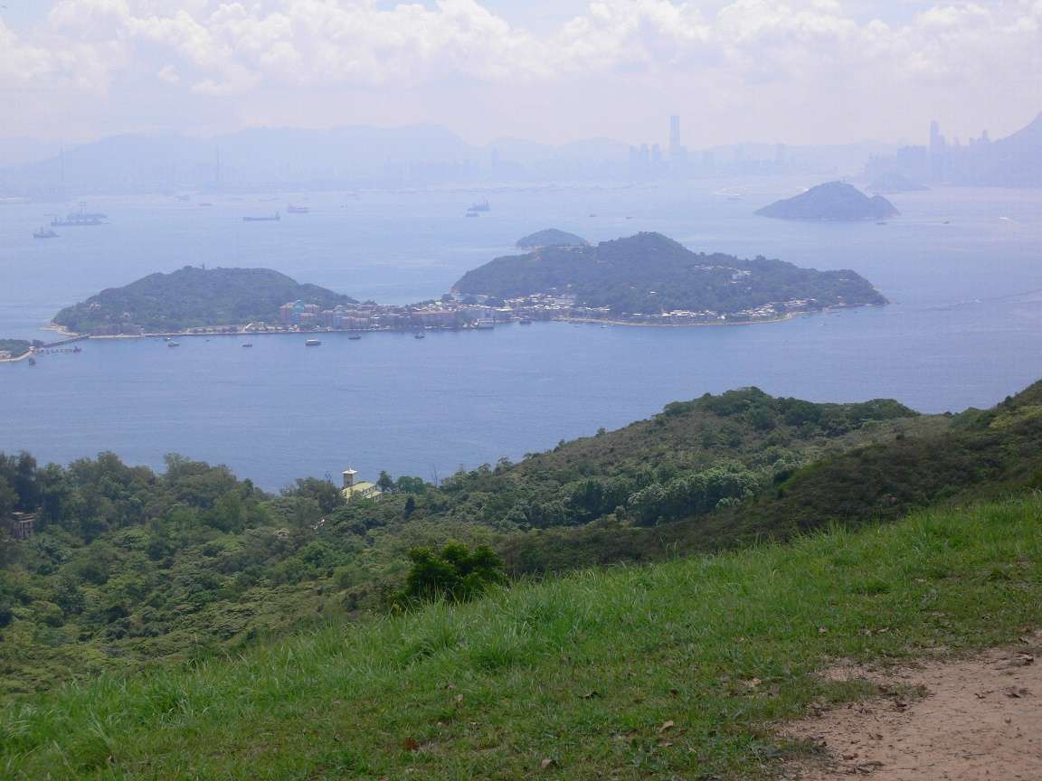 Looking towards Hong Kong Island with Peng Chau in the foreground