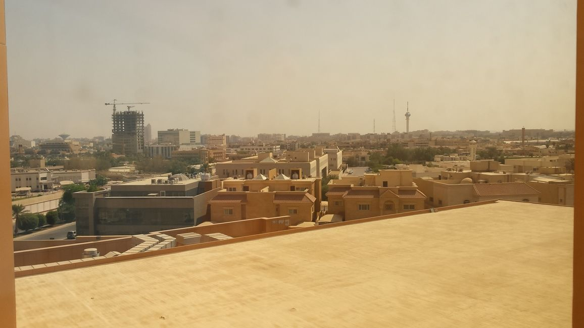 View of Riyadh from my hotel room