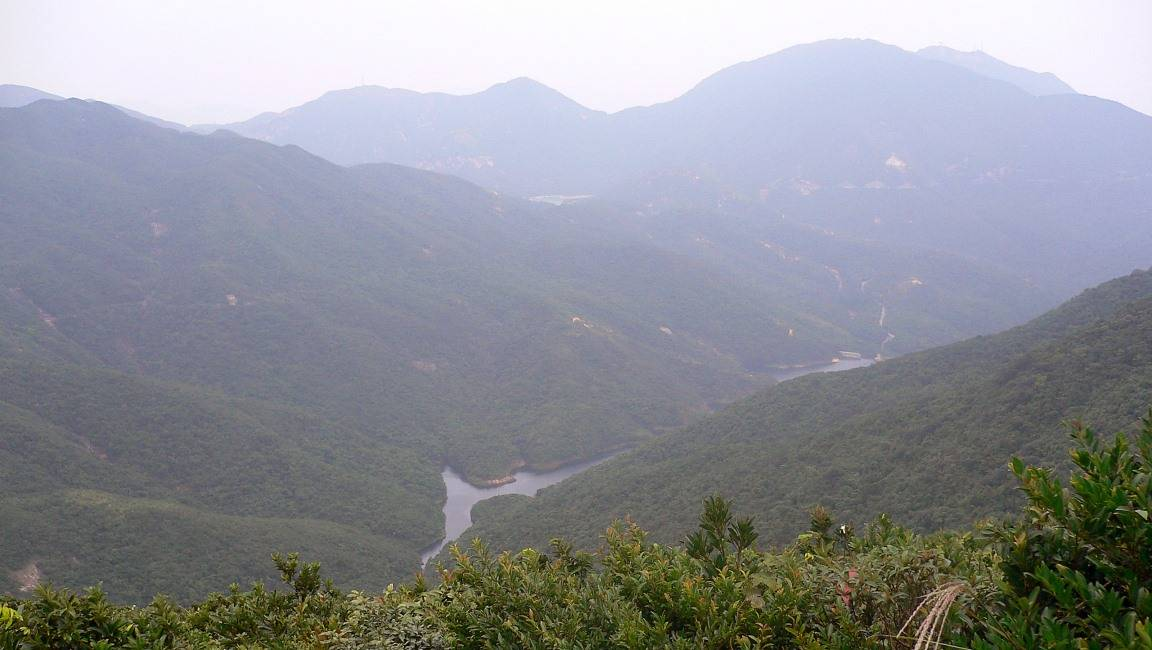 From the top of the Twins, looking west towards Tai Tam Reservoir