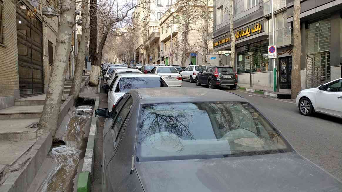 A residential street in the Tajrish area of Tehran