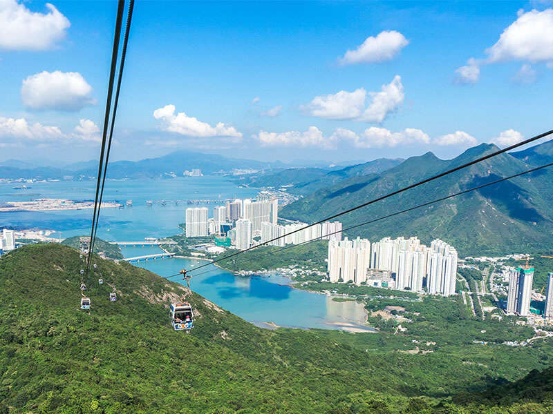 Tung Chung town from the cable car
