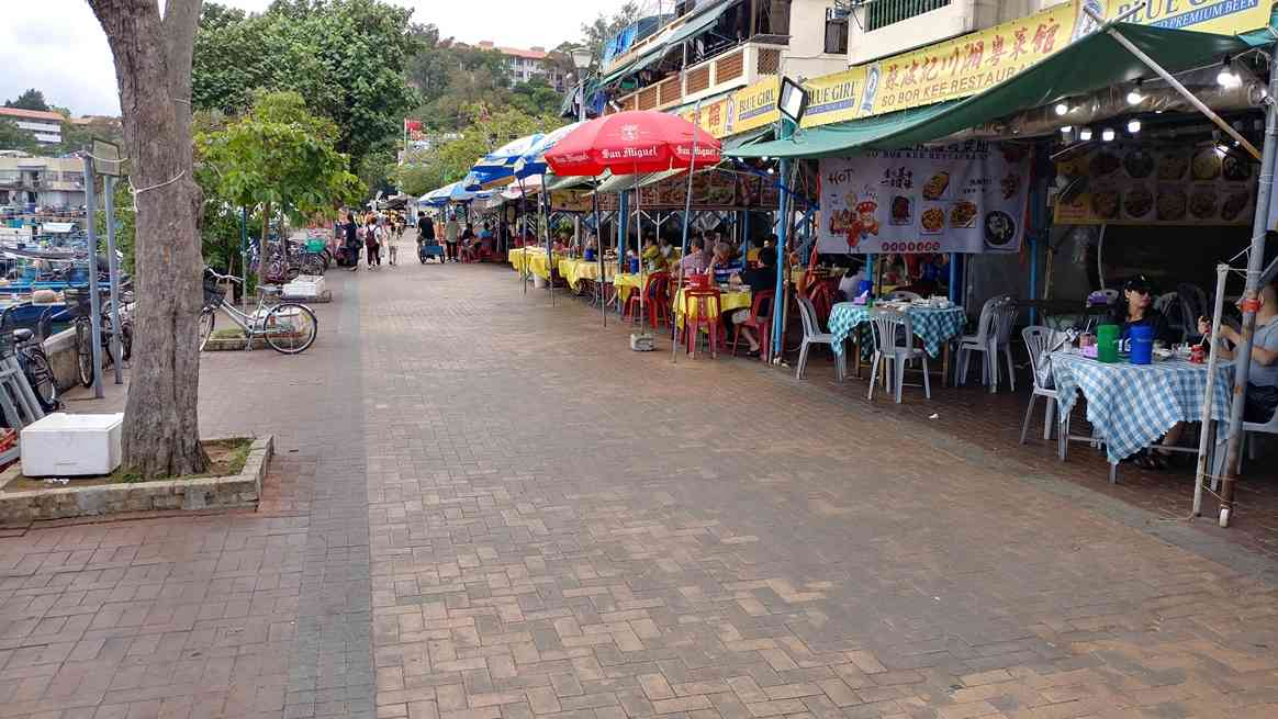 Seafood restaurants at Cheung Chau