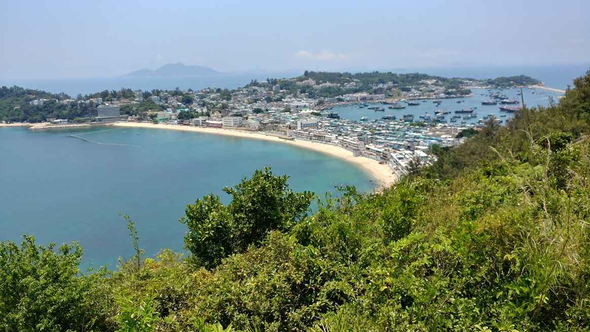 View of Cheung Chau village and harbour