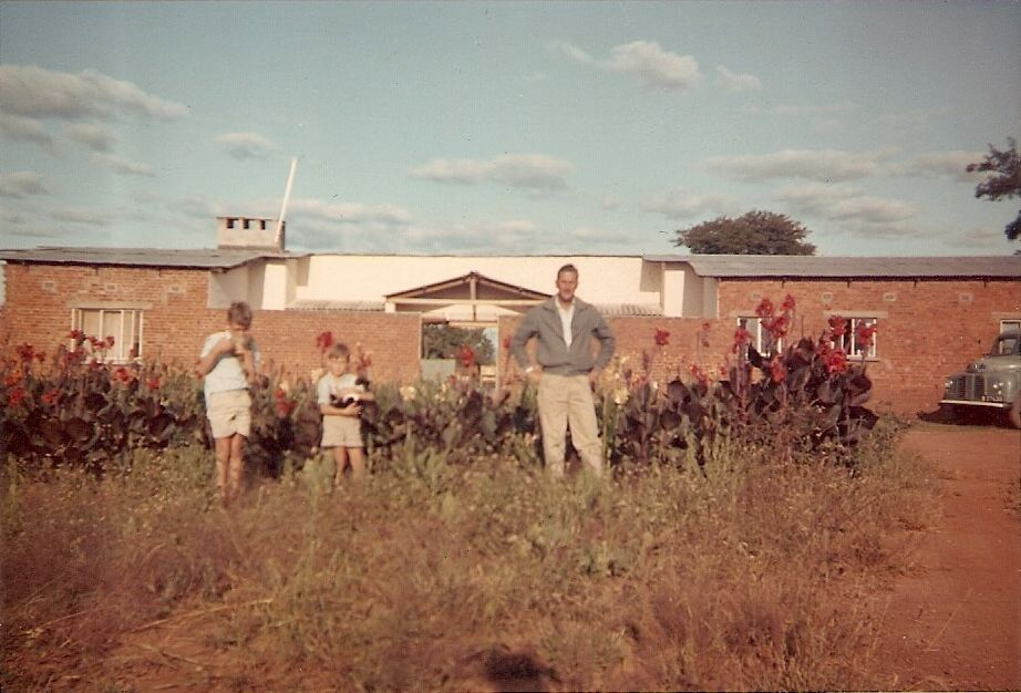 My parents' first house in Rhodesia