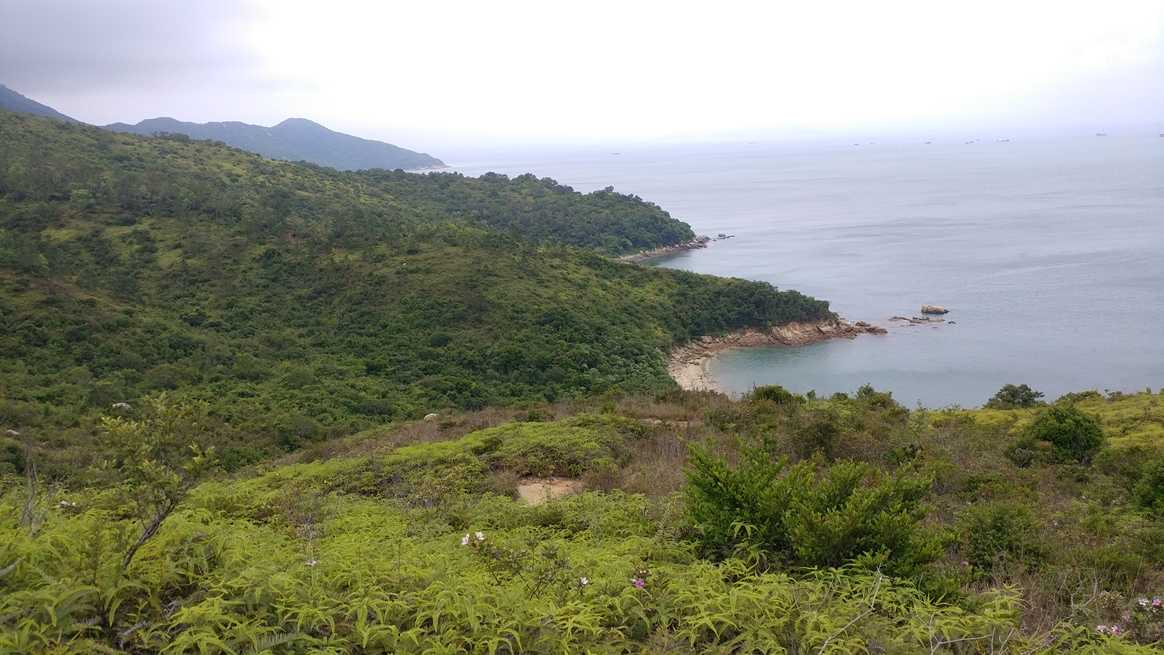Looking south west from the pagoda on Lamma Island