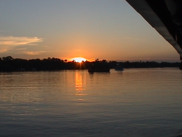 Sunset cruise on the Zambesi River