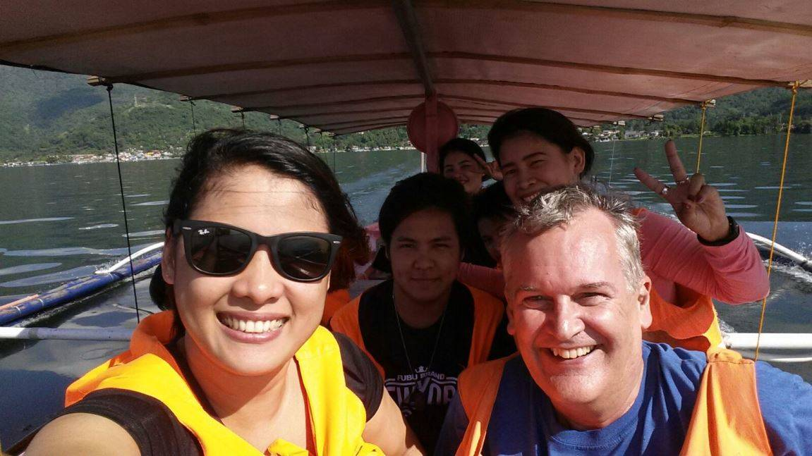 A banca ride across Lake Taal