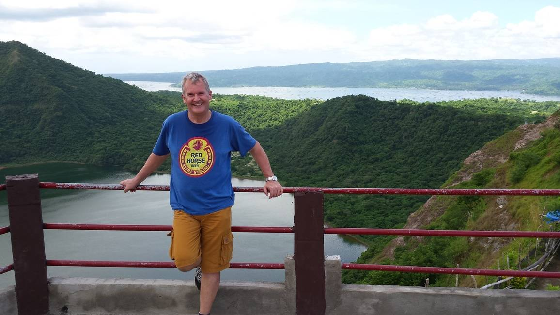 Lake in the crater of the Taal Volcano