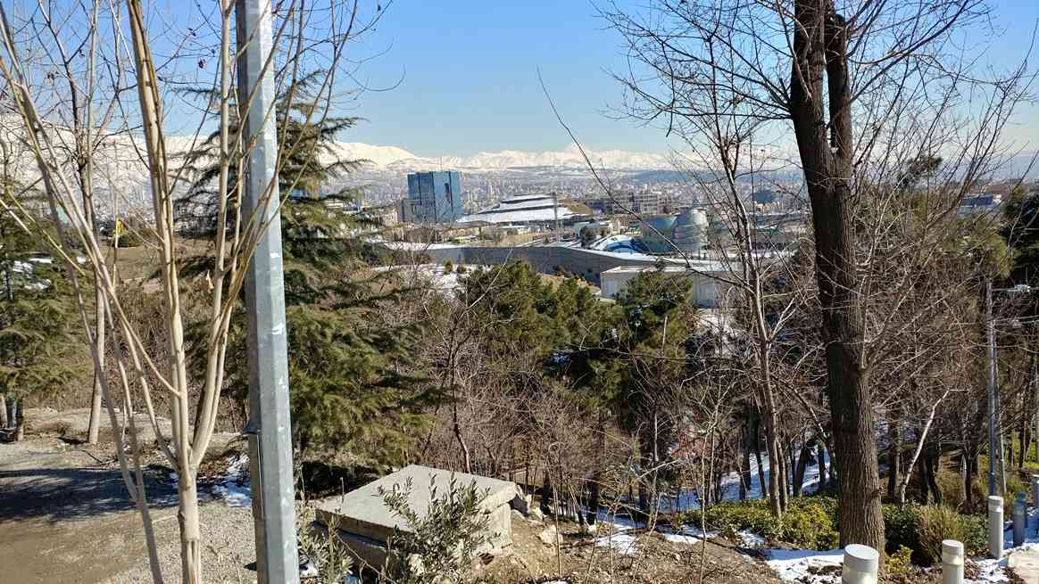 View from Taleghani Park to the North East of Tehran