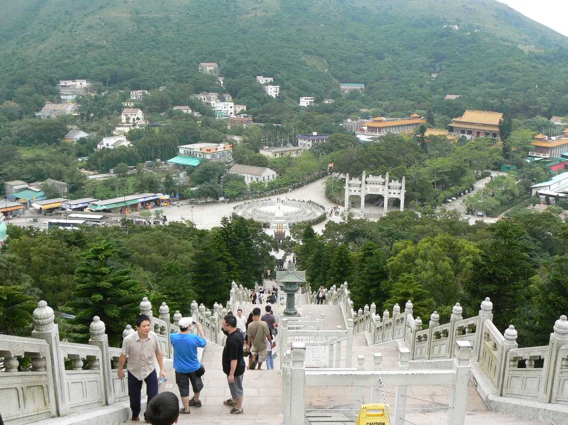 Top of the steps up to the Tian Tan Buddha