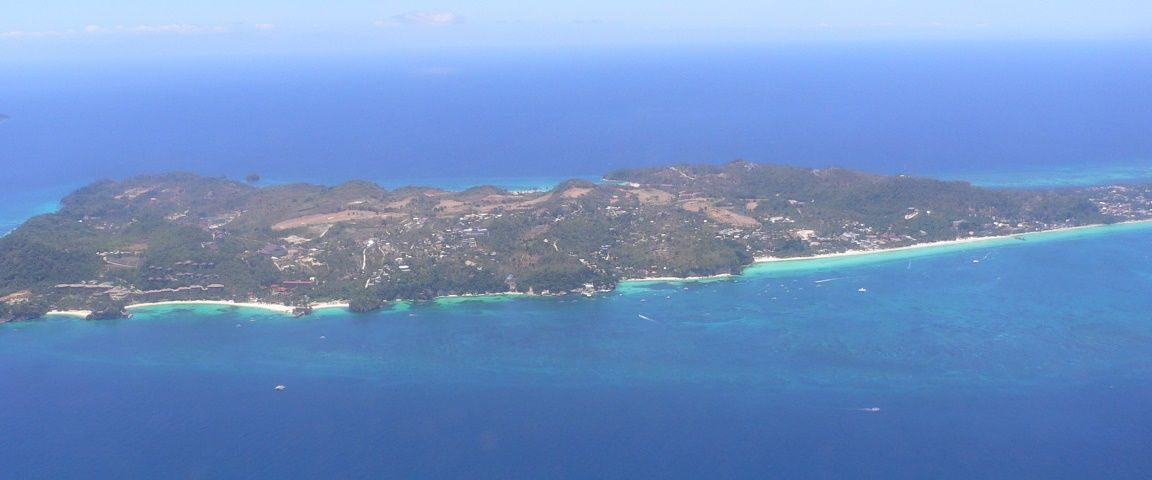 Boracay Island Philippines from the air