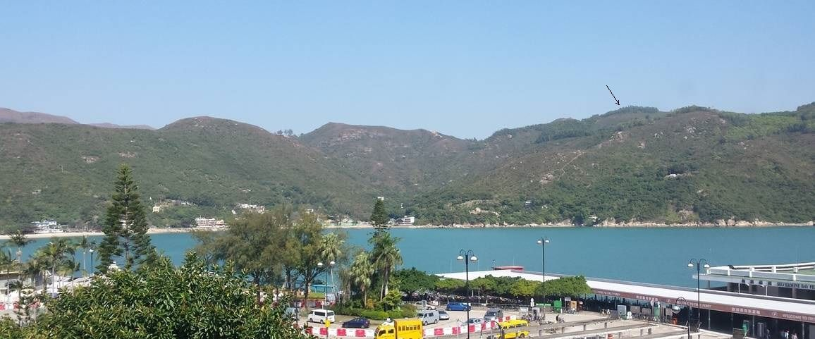 Hills you need to cross to get to DB from Mui Wo